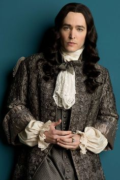 My favorite character from the historical series 'Versailles', the Kings brother Philippe, Duke of Orleans Easily the most complex character in the series played brilliantly by Alex Vlahos Who is YOUR fave? Versailles Tv Series, Louis Xiv Versailles, Alexander Vlahos, Beautiful Men, Beautiful People, Bbc, George Blagden, Isak & Even, 17th Century Fashion