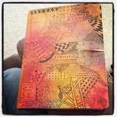 Zentangled Dylusions Journal Cover  © kass hall 2012 www.kasshall.com #artjournal #dylusions