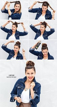 DIY Twisted Top Knot long hair updo bun diy hair knot diy bun hairstyles hair tutorials easy hairstyles - Looking for Hair Extensions to refresh your hair look instantly? No Heat Hairstyles, Pretty Hairstyles, Easy Hairstyles For Work, Office Hairstyles, Hairstyles For Nurses, Easy Bun Hairstyles For Long Hair, Thick Hair Updo, Cute Quick Hairstyles, Five Minute Hairstyles
