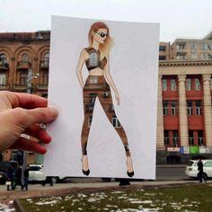 Imagini pentru Creative Fashion Designs by Armenian Artist Edgar Unique Drawings, Amazing Drawings, Amazing Art, Dress Sketches, Fashion Sketches, Arte Fashion, Fashion Design, Silhouette Mode, Illustrator