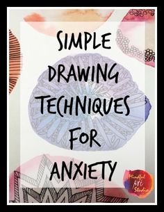 "Simple Drawing Techniques for Anxiety that can help right now. All you need is a paper and pen and the ability to write an ""O.""  This is an interesting concept for students with autism and other social anxiety issues.  Especially appropriate for those older kiddos in middle and high school.  Read more at:  http://mindfulartstudio.com/simple-drawing-techniques-for-anxiety/"