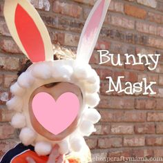 Preschool Crafts for Kids*: Cute Easter Bunny Mask Craft Easter Art, Hoppy Easter, Easter Crafts, Easter Bunny, Easter Ideas, Spring Crafts, Holiday Crafts, Holiday Fun, Costume Lapin