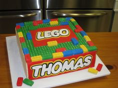 Lego cake! I want this cake if I decide on a lego party for Coy