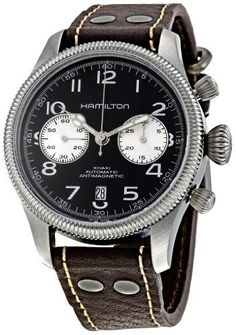 Hamilton Men's H60416533 Khaki Field Automatic Watch Hamilton. $1150.00. Brown leather. Water resistant to 50 m (165 feet). Sapphire. Swiss-automatic. Case diameter:42 mm. Save 39% Off!