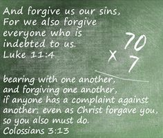 May you know God's #forgiveness today, and may that grace overflow in your heart in forgiveness toward others.