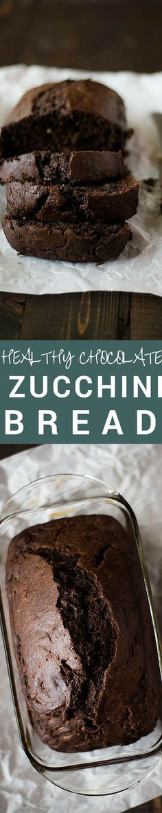 This Healthy Chocolate Zucchini Bread takes just about an hour to make and is absolutely delicious!