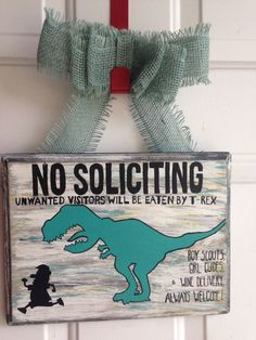 Custom painted 'No Soliciting' sign! Follow us on Facebook and Instagram! #pinperfect www.facebook.com/pinperfectcreations