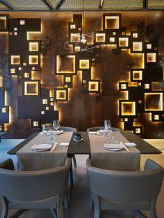 Interior of Taiyo Sushi Restaurant defined by Italian architect Maurizio Lai