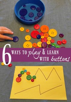 6 button activities for kids (I love #1!)