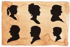 Victorian Silhouettes | Victorian Silhouette Avatars