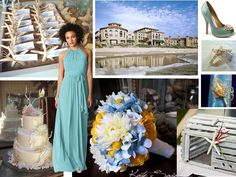 Elegant Beach : PANTONE WEDDING Styleboard : The Dessy Group