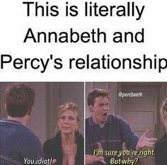 Let's make sea weed brain the new percabeth please! Also Annabeth has been shipping her and Percy since they met. Seaweed for Percy Brain for Annabeth! Percy Jackson Fan Art, Percy Jackson Fandom, Memes Percy Jackson, Percy Jackson Books, Percy Jackson Head Canon, Rick Riordan Bücher, Rick Riordan Books, Annabeth Chase, Hunger Games