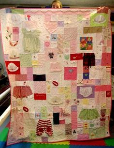 gorgeous baby clothes quilts