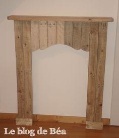 Fausse cheminée en bois de palette                                                                                                                                                                                 Plus