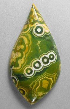 Ocean jasper cabochon from Madagascar cut by Sam Silverhawk gemstones.