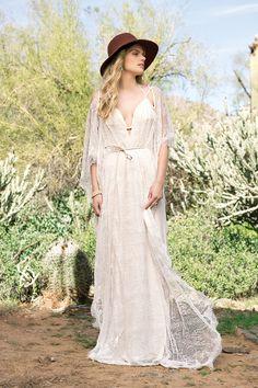 Style 6523: Bikini Top Draped Gown with Self-Tie Waist   Lillian West