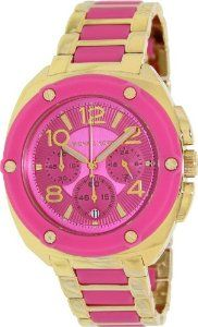 Michael Kors Watch Women's Chronograph Tribeca Pink Silicone and Gold Tone Stainless Steel MK5745: Watches: Amazon.com