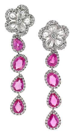 Hot-pink pink sapphire and diamond #Avakian