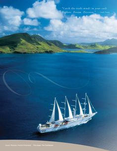 """Windstar Cruises, have done Greece to Italy, Panama Canal, just crossed South Pacific to Tahiti, and did the first """"Dreams of Tahiti"""" cruise in 12 years!"""