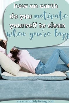 The best tips and tricks to get motivated to clean when you're completely overwhelmed and have no idea where to start cleaning. Home Organisation Tips, How To Get Motivated, Messy House, Motivate Yourself, Homemaking, Clean House, Outdoor Blanket, Good Things, Cleaning