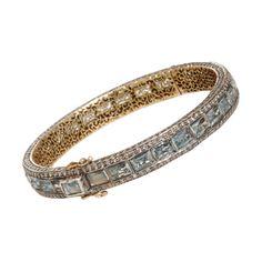 Munnu Aquamarine & Diamond Bangle at Barneys.com