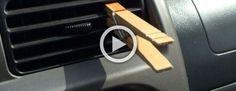 Siempre pone un pinza en el aire acondicionado de su vehículo. La razón es muy inteligente #viral