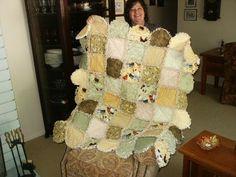 Rag quilt   I like the edge/border