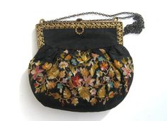 1930s ornate embroidered evening bag. $90.00, via Etsy.