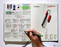 Take a look at the super detailed notebook of a football commentator - BBC Radio Newcastle's Nick Barnes