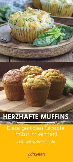 Sind die lecker! Muffins mit  Spinat, Zucchini oder Käse! We love!