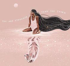 Wicca, Divine Feminine, Sacred Feminine, Cute Cartoon Wallpapers, Psychedelic Art, Strong Women, Cute Art, Girl Power, Art Girl