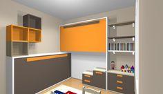 proyecto dormitorio juvenil con 2 camas abatibles