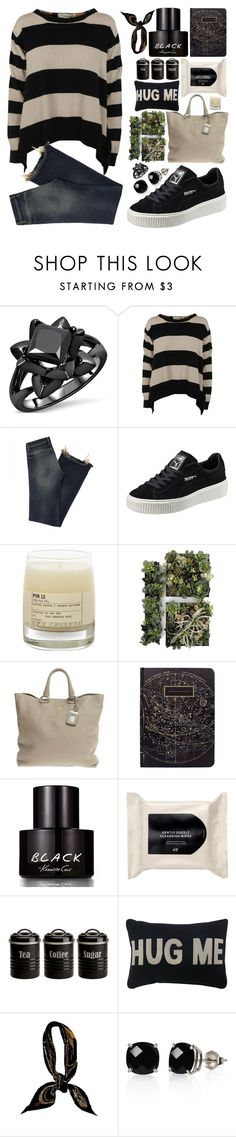 """""""Back in black..."""" by bleucabbage ❤ liked on Polyvore featuring STELLA McCARTNEY, Puma, Le Labo, Prada, Kenneth Cole, H&M, Typhoon, Park B. Smith, Hermès and Belk & Co."""