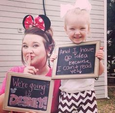 Cutest way to tell your kids you're going to Disney