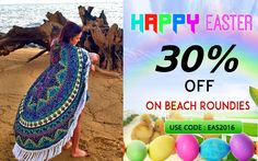 Handicrunch provides a 30% Off on Beach Roundie Tapestry to decorate your home interior designs @Handicrunch.com