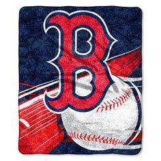Boston Red Sox Blanket - 50x60 Sherpa - Big Stick Design