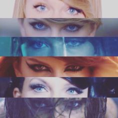 Music Videos ~ Shake It Off, Blank Space, Style, Bad Blood, Wildest Dreams & Out Of The Woods.