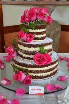 Tortas de matrimonio en Lima. Lindo Naked Cake. Torta temática de Dul & Pas | Foto 1