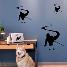 Back Country Skier Removable ChalkTalkGraphix Wall Decal, coolest skiing wall stickers