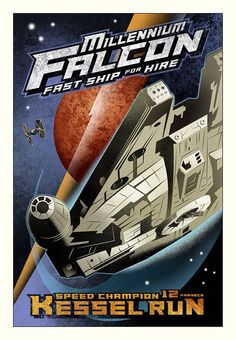 Kessel Run - by Mike Kungl<br>giclee on canvas (lg)