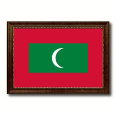 Maldives Country Flag Canvas Print, Picture Frame Home Decor Gifts Wall
