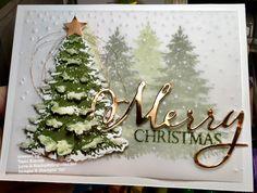 Bildergebnis für winter woods stampin up Christmas cards Christmas Paper Crafts, Homemade Christmas Cards, Handmade Christmas, Homemade Cards, Christmas Cards 2018, Xmas Cards, Christmas Greetings, Holiday Cards, Stampin Up Christmas 2018