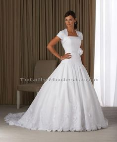 Alexa TOTALLY MODEST # 1 choice for Modest Wedding Dresses with sleeves, Bridesmaids and Prom
