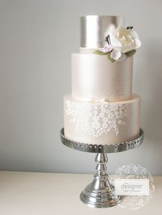 Love this champagne color.  The Designer Cake Company | WEDDING CAKES