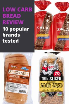 Low Carb Bread Review: You can buy great low-carb bread almost everywhere. This is my in-depth review of 10 of the most popular and widely available low carb bread brands. #breads #lowcarbbread #diabeticdiet #nutrition #healthybreakfast #diabetesstrong
