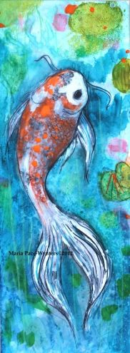Little Koi, painting by artist Maria Pace-Wynters