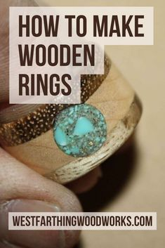 How to make wooden rings. This is a great gift for the holidays and it's an easy woodworking project even for a beginner. Happy building.