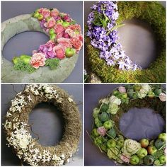 Different wreaths funeral Deco Floral, Art Floral, Funeral Arrangements, Flower Arrangements, Floral Bouquets, Floral Wreath, Flower Wreaths, Cemetery Decorations, Cemetery Flowers