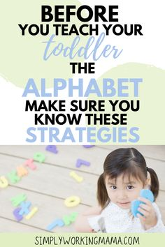 How to Teach Toddlers the ABCs