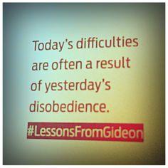 Yes.. True..  Priscilla Shirer, Gideon study